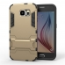 Samsung Galaxy S6 Tough Armor Protective Case (Gold) protective carrying case by PDair