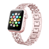 Apple Watch Series 5 | Series 4 40mm Stainless Steel Metal Cowboy Chain Strap Wrist Band (Rose Pink) is designed to wear fashionable look to your device. Cowboy Style Design looks elegant and luxury,Good replacement band for leather, nylon and other metal