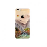 Sunset Crane Bird Scenery iPhone 6s 6 Plus SE 5s 5 Pattern Printed Soft Case