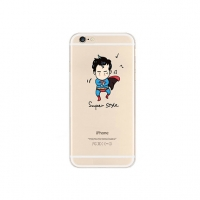 Superman x PSY Gangnam Style iPhone 6s 6 Plus SE 5s 5 Pattern Printed Soft Case