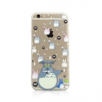 Totoro Chu Chibi Soot Raining Pattern iPhone 6s 6 Plus SE 5s 5 Pattern Printed Soft Case
