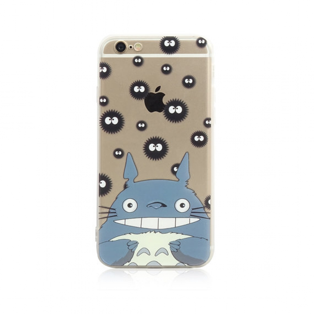 10% OFF + FREE SHIPPING, Buy PDair iPhone Pattern Printed Soft Clear Case Totoro Soot Pattern which is available for iPhone 5 | iPhone 5s SE 6 6s, iPhone 6 Plus | iPhone 6s Plus. You also can go to the customizer to create your own stylish leather case if