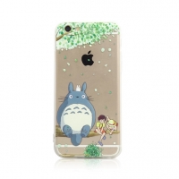 Totoro Tree with satsuki kusakabe iPhone 6s 6 Plus SE 5s 5 Pattern Printed Soft Case