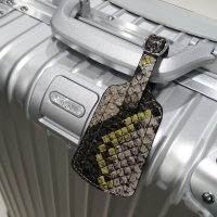 Travel Leather Luggage Tag (Python Pattern)