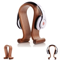 U Shaped Wood Stand Holder for Headphone