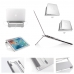 Universal Aluminum Foldable Stand for Macbook/Notebook (Silver) top quality leather case by PDair