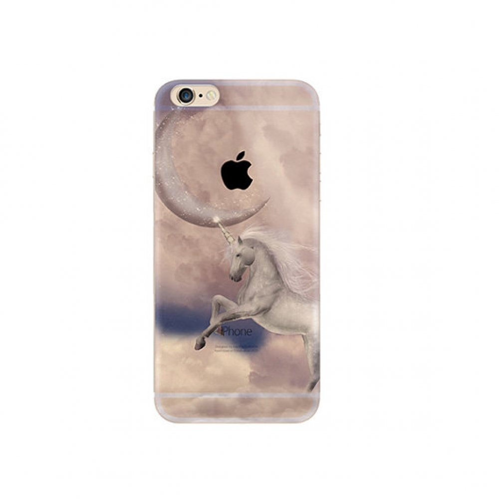 10% OFF + FREE SHIPPING, Buy PDair iPhone Pattern Printed Soft Clear Case (Unicorn Moon) which is available for iPhone 6 | iPhone 6s, iPhone 6 Plus | iPhone 6s Plus, iPhone 5 | iPhone 5s SE. You also can go to the customizer to create your own stylish lea