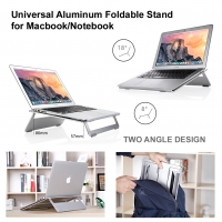 Universal Aluminum Foldable Stand for Macbook/Notebook (Silver) :: Pdair