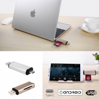 USB-A USB Type-C Card Reader Adapter with TF/SD Read Write Function