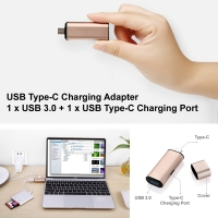 USB Type-C Charging Adapter 1 x USB 3.0 + 1 x USB Type-C Charging Port :: Pdair