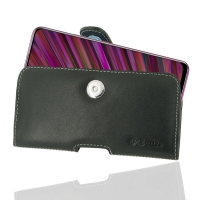 Leather Horizontal Pouch Case with Belt Clip for ViVO V15