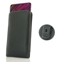 Leather Vertical Pouch Belt Clip Case for ViVO V15