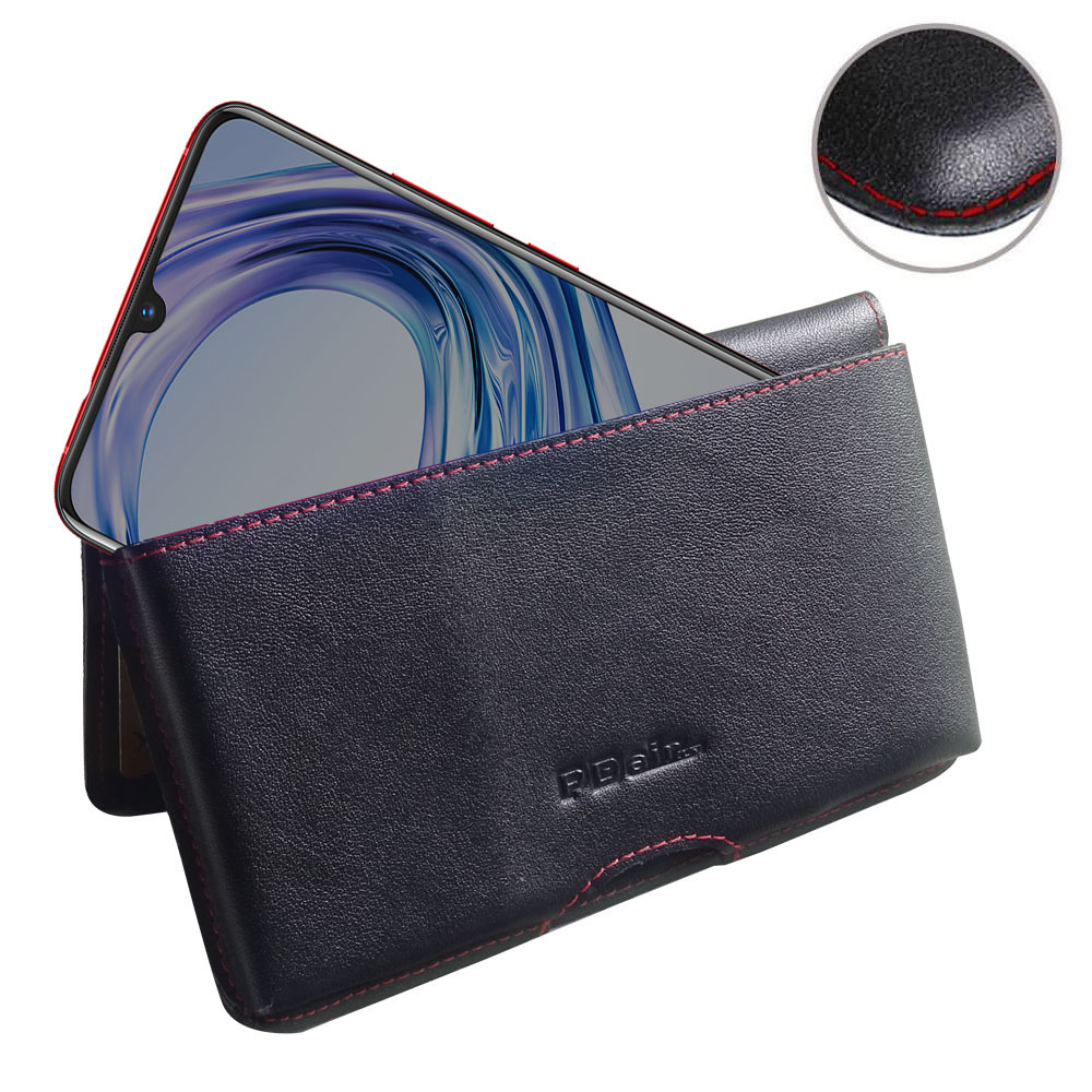 10% OFF + FREE SHIPPING, Buy the BEST PDair Handcrafted Premium Protective Carrying ViVO X23 Leather Wallet Pouch Case (Red Stitch). Exquisitely designed engineered for ViVO X23.