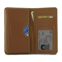 Leather Card Wallet for ViVO X23 (Brown)