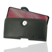 Leather Horizontal Pouch Case with Belt Clip for ViVO X27