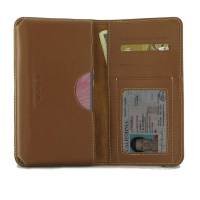 Leather Card Wallet for ViVO X27 (Brown)