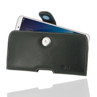 Leather Horizontal Pouch Case with Belt Clip for ViVO Y71i