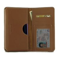 Leather Card Wallet for ViVO Z1 Lite (Brown)