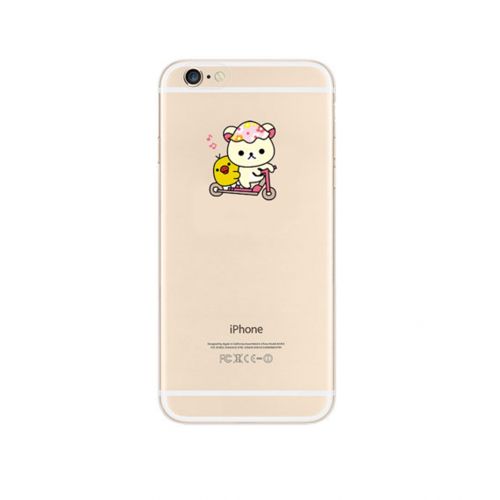 10% OFF + FREE SHIPPING, Buy PDair Top Quality iPhone Soft Clear Case White Rilakkuma Cutie which is available for iPhone 6 | iPhone 6s, iPhone 6 Plus | iPhone 6s Plus, iPhone 5 | iPhone 5s SE You also can go to the customizer to create your own stylish l