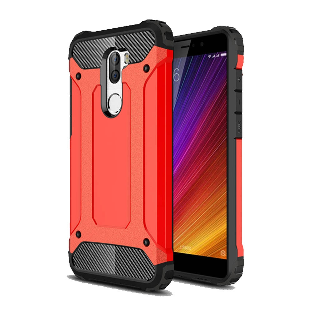 huge selection of 16fc4 2eb13 Hybrid Dual Layer Tough Armor Protective Case for Xiaomi Mi 5s Plus (Red)