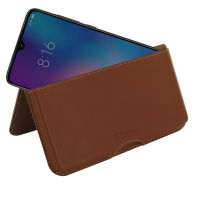Leather Wallet Pouch for Xiaomi Mi 9 SE (Brown)