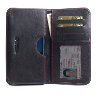 Leather Card Wallet for Xiaomi Mi 9 SE (Red Stitch)