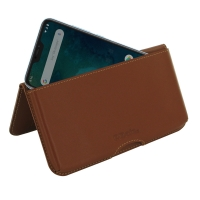Leather Wallet Pouch for Xiaomi Mi A2 Lite | Redmi 6 Pro (Brown)