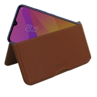 Leather Wallet Pouch for Xiaomi Mi CC9 (Brown)