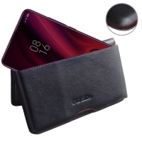 Leather Wallet Pouch for Xiaomi Redmi K20 (Red Stitch)