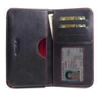 Leather Card Wallet for Xiaomi Redmi K20 (Red Stitch)