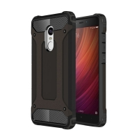 Hybrid Dual Layer Tough Armor Protective Case for Xiaomi Redmi Note 4 (Black)