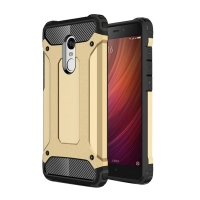Hybrid Dual Layer Tough Armor Protective Case for Xiaomi Redmi Note 4 (Gold)