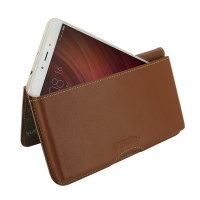 Leather Wallet Pouch for Xiaomi Redmi Note 4 (Brown)