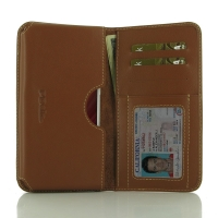 Leather Card Wallet for Xiaomi Redmi Note 4 (Brown)