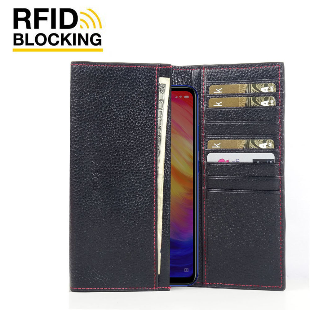 10% OFF + FREE SHIPPING, Buy the BEST PDair Handcrafted Premium Protective Carrying Xiaomi Redmi Note 7 Pro Leather Continental Sleeve Wallet (Red Stitching). Exquisitely designed engineered for Xiaomi Redmi Note 7 Pro.