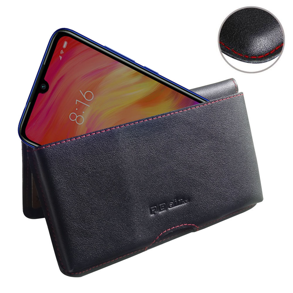 10% OFF + FREE SHIPPING, Buy the BEST PDair Handcrafted Premium Protective Carrying Xiaomi Redmi Note 7 Pro Leather Wallet Pouch Case (Red Stitch). Exquisitely designed engineered for Xiaomi Redmi Note 7 Pro.