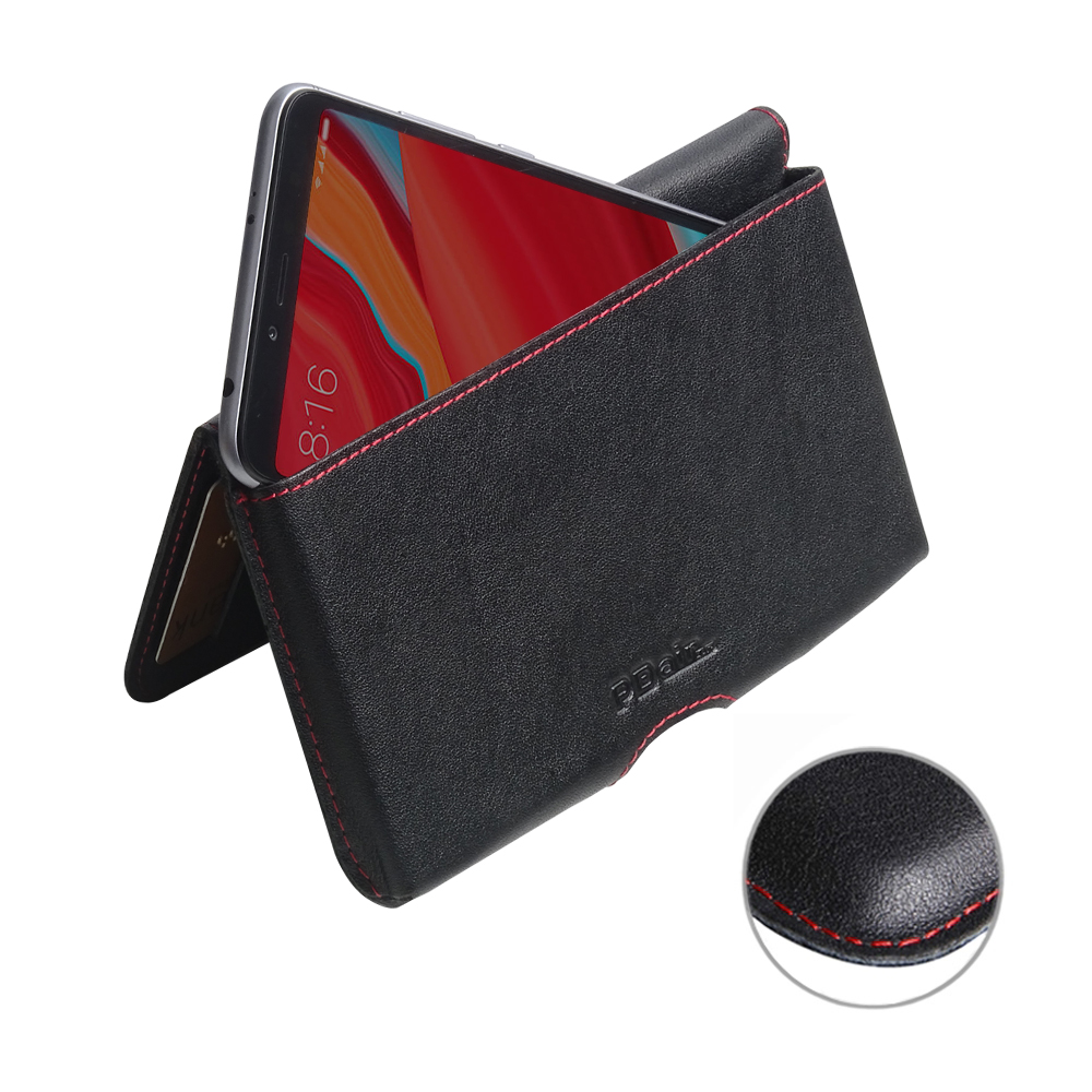 10% OFF + FREE SHIPPING, Buy the BEST PDair Handcrafted Premium Protective Carrying Xiaomi Redmi S2 Leather Wallet Pouch Case (Red Stitch). Exquisitely designed engineered for Xiaomi Redmi S2.