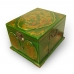 Handmade Collectible Antique Oriental Dressing Jewellery Box Leather Surface (Green) ZBXGG-A029 handmade leather case by PDair