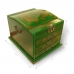 Handmade Collectible Antique Oriental Dressing Jewellery Box Leather Surface (Green) ZBXGG-A073 handmade leather case by PDair