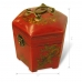 Handmade Collectible Antique Oriental Candy Box Leather Surface (Red) ZBXGR-A057 handmade leather case by PDair