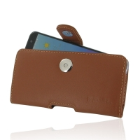 Leather Horizontal Pouch Case with Belt Clip for ZTE Blade V7 / Small Fresh 4 (Brown)