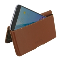 Leather Wallet Pouch for ZTE Blade V7 / Small Fresh 4 (Brown)