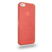 0.6mm Ultra thin Plastic Back Case Cover for Apple iPhone 5 | iPhone 5s (Red)