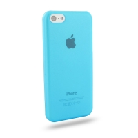 0.6mm Ultra thin Plastic Back Case Cover for Apple iPhone 5c (Aqua)