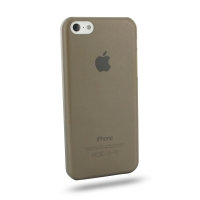 0.6mm Ultra thin Plastic Back Case Cover for Apple iPhone 5c (Grey)