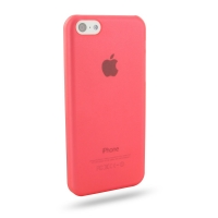 0.6mm Ultra thin Plastic Back Case Cover for Apple iPhone 5c (Red)