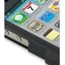 iPhone 4 4s Aluminum Metal Case (Black) handmade leather case by PDair