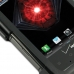Motorola Droid Razr Maxx Aluminum Metal Case (Black) genuine leather case by PDair