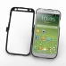 Samsung Galaxy S4 Aluminum Metal Case (Black) top quality leather case by PDair