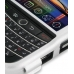 BlackBerry Tour 9630 Aluminum Metal Case (Silver) handmade leather case by PDair